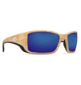 COSTA Costa Del Mar Blackfin Ashwood Blue Mirror Polarized Plastic Sunglasses
