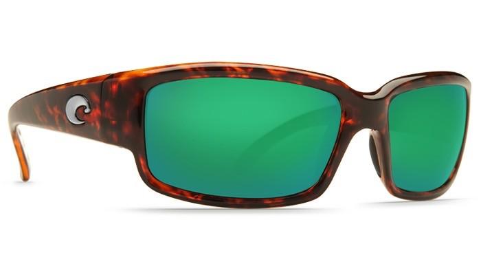 COSTA Costa Del Mar CABALLITO Tortoise Green Mirror Polarized Glass Sunglasses