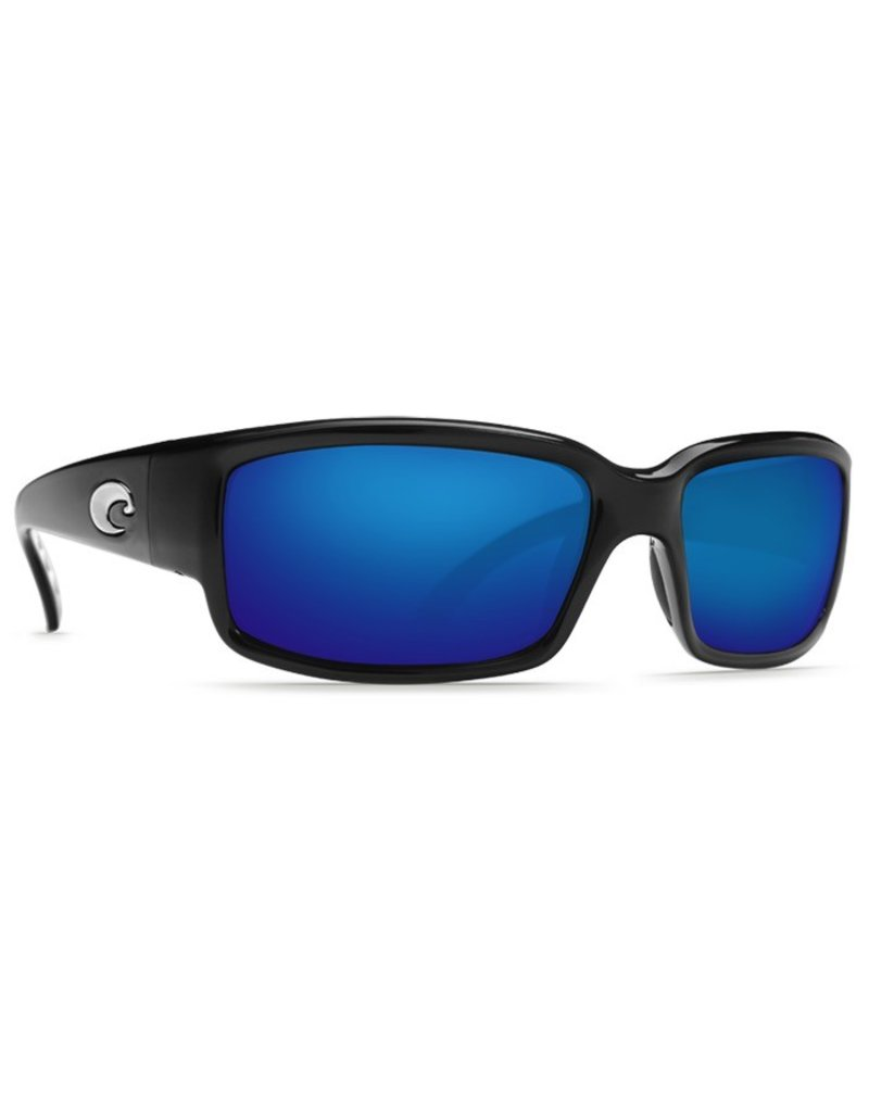 COSTA Costa Caballito Shiny Black Blue Mirror Polarized Glass Sunglasses