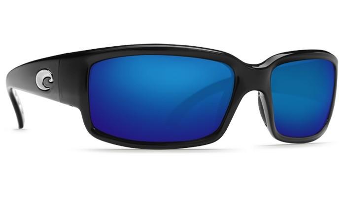 COSTA Costa Caballito Shiny Black Blue Mirror Polarized Glass Sunglasses