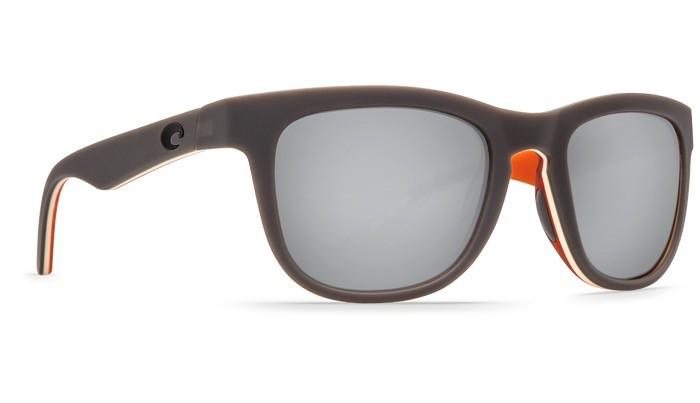 COSTA Costa Del Mar COPRA Matte Gray Cream Salmon Silver Mirror Polarized Plastic Sunglasses