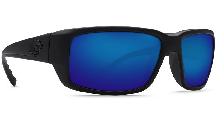COSTA Costa Del Mar Fantail Blackout Blue Mirror Polarized Glass Sunglasses