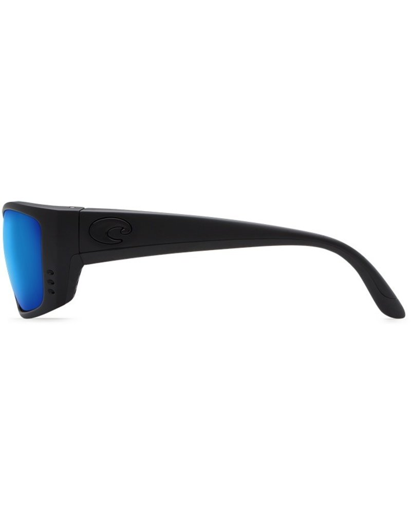 COSTA Costa Del Mar Fisch Sunglasses Blackout Blue Mirror Polarized Glass