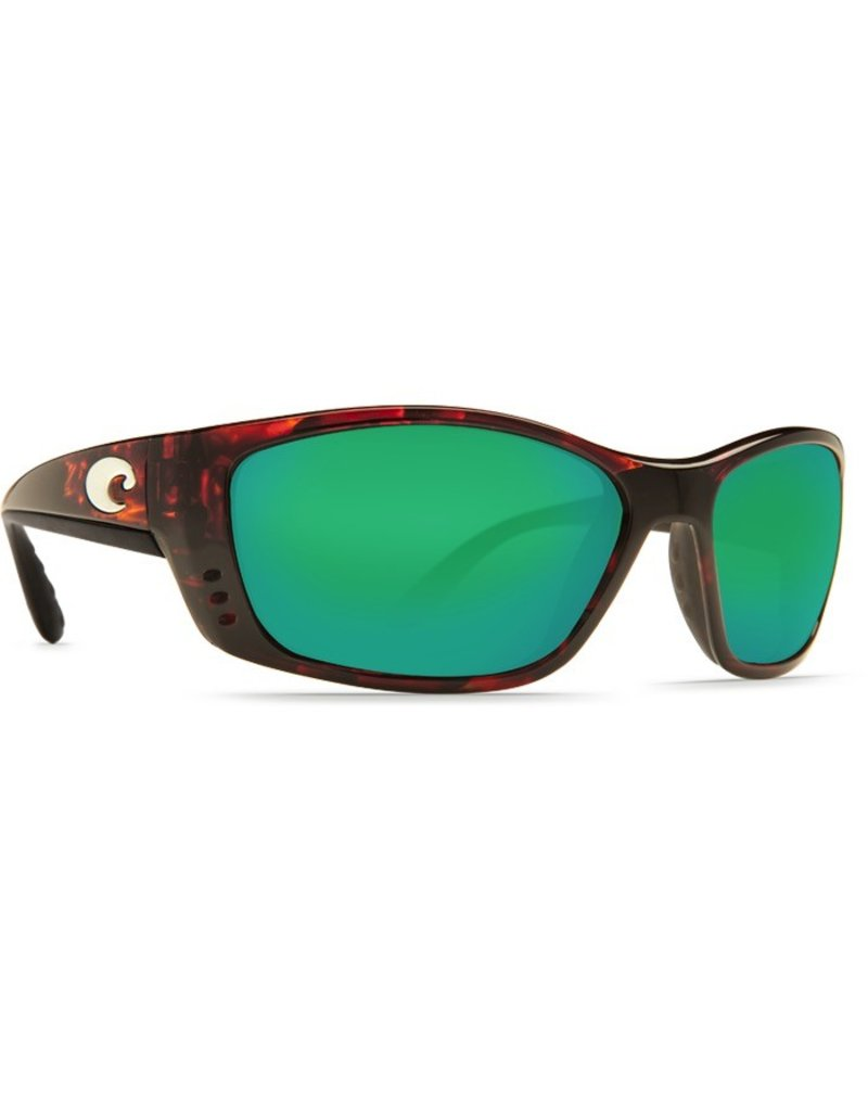 COSTA Costa Del Mar Fisch Sunglasses Tortoise Green Mirror Polarized Glass