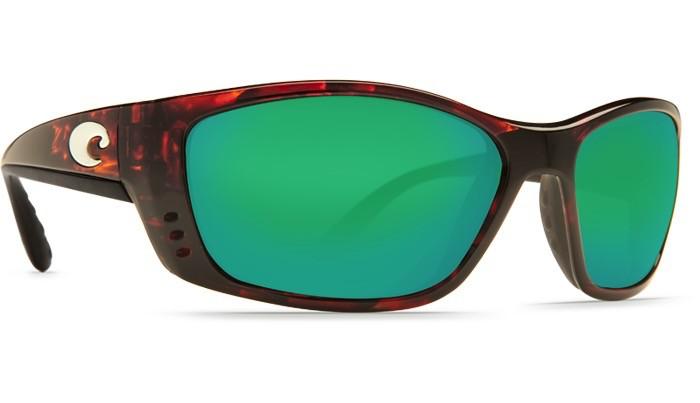 COSTA Costa Del Mar Fisch Sunglasses Tortoise Green Mirror Polarized Glass