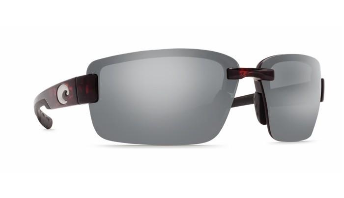 COSTA Costa Del Mar Galveston Sunglasses Silver Mirror Polarized Plastic