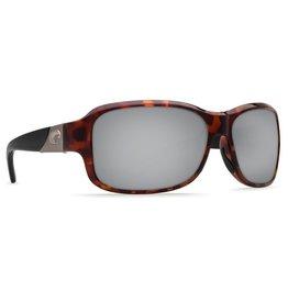 COSTA Costa Del Mar Inlet Sunglasses Retro Tortoise With Black Temples Silver Mirror Polarized Plastic