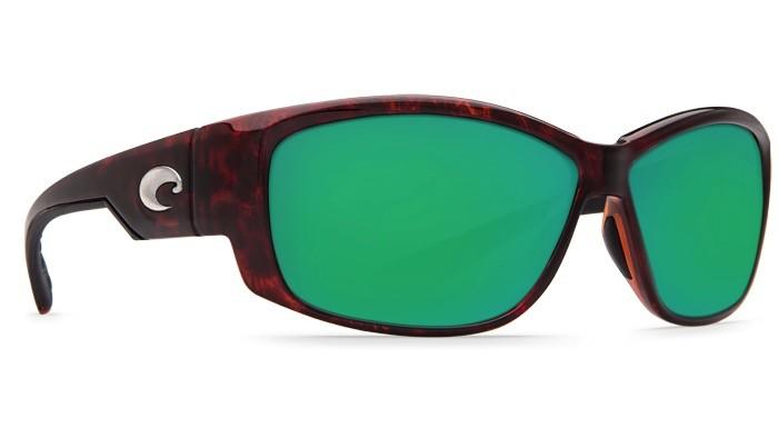 COSTA Costa Del Mar Luke Sunglasses Tortoise Green Mirror Polarized Glass