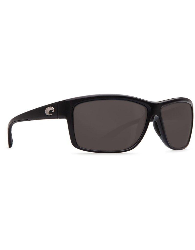 COSTA Costa Del Mar Mag Bay Sunglasses Shiny Black Gray Polarized Plastic