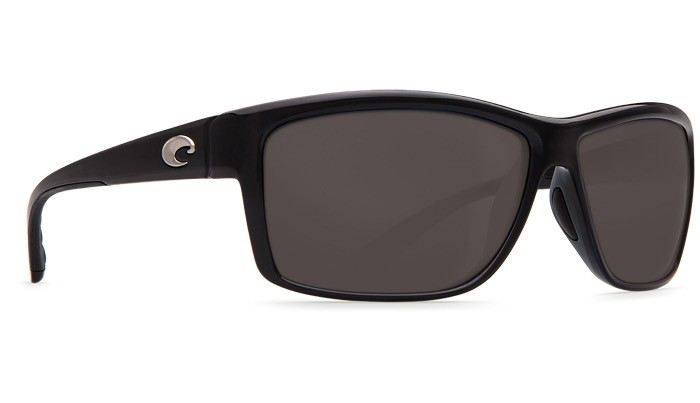 COSTA Costa Del Mar Mag Bay Sunglasses Shiny Black Gray Polarized Plastic