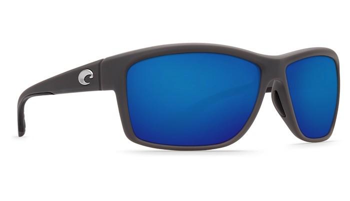 COSTA Costa Del Mar Mag Bay Sunglasses Matte Gray Blue Mirror Polarized Glass