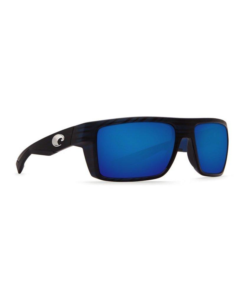 COSTA Costa Motu Sunglasses Matte Black Teak Blue Mirror Polarized Glass