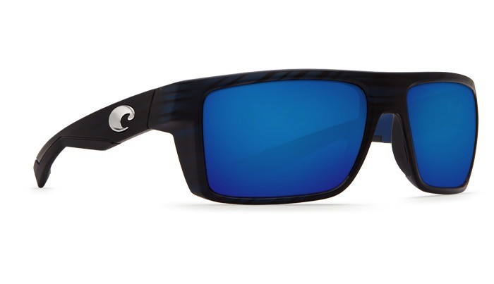 COSTA Costa Motu Sunglasses Matte Black Teak Blue Mirror Polarized Glass