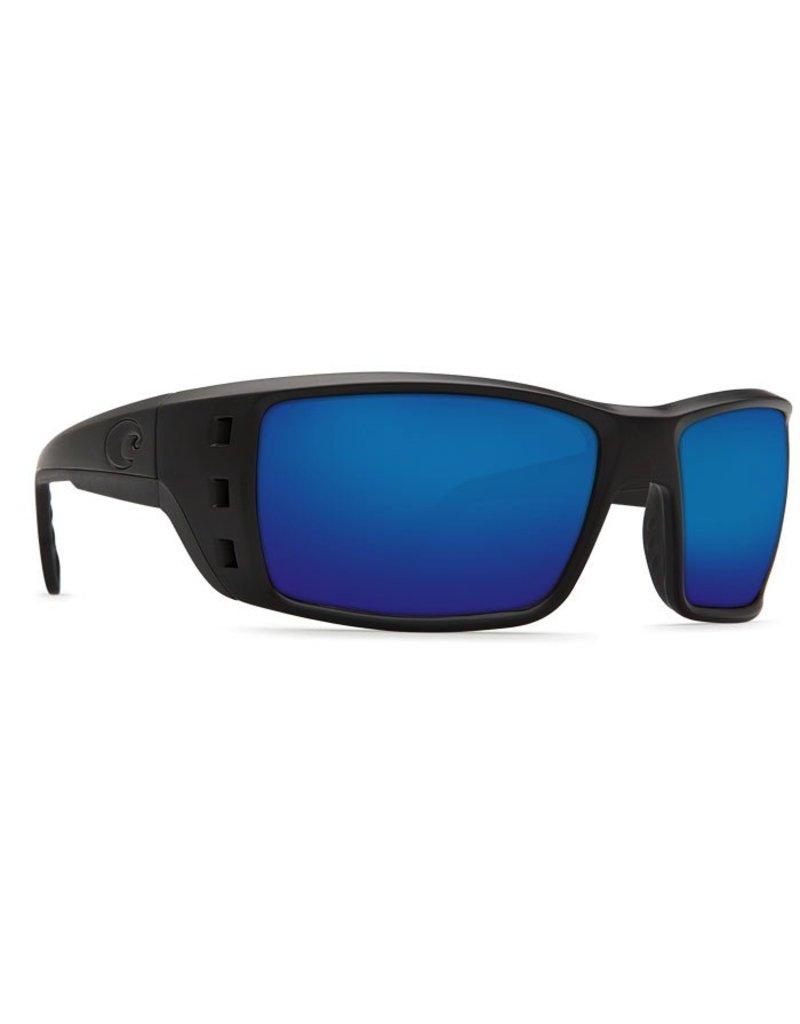 COSTA Costa Del Mar Permit Sunglasses Blackout Blue Mirror Polarized Glass
