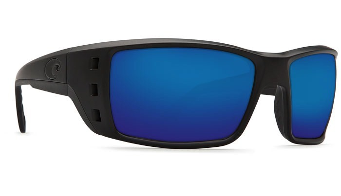 COSTA Costa Del Mar Permit Sunglasses Blackout Blue Mirror Polarized Glass