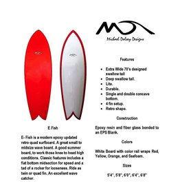 "Dolsey Dolsey 6'0"" E Fish Paperwood Surfboard"