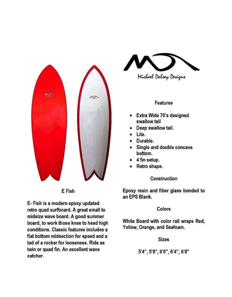 """Dolsey Dolsey 6'0"""" E Fish Paperwood Surfboard"""