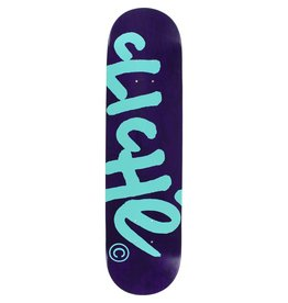 EASTERN SKATE SUPPLY CLICHE HANDWRITTEN DECK-7.75 PUR/TEAL R7 Ppp