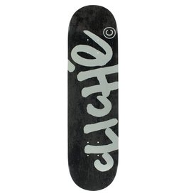 EASTERN SKATE SUPPLY CLICHE HANDWRITTEN DECK-8.25 BLK/SIL Ppp