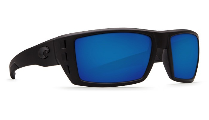 COSTA Costa Del Mar Blackout Sunglasses Blue Mirror Polarized Glass