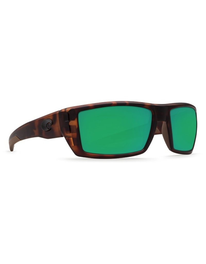 COSTA Costa Del Mar Rafael Sunglasses Retro Tortoise Green Mirror Polarized Plastic