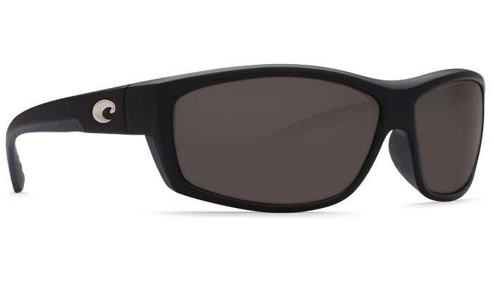 COSTA Costa Del Mar Saltbreak Sunglasses Matte Black Gray Polarized Glass