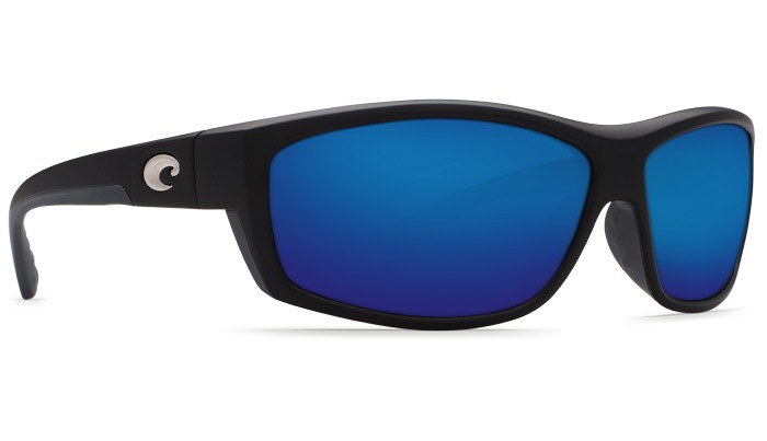 COSTA Costa Del Mar Saltbreak Sunglasses Matte Black Blue Mirror Polarized Glass