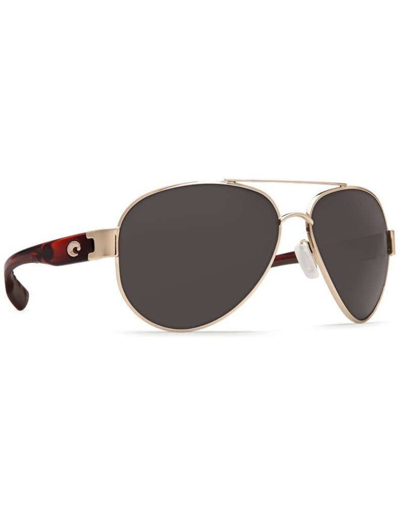 COSTA Costa Del Mar South Point Sunglasses Rose Gold With Light Tortoise Temples Gray Polarized Plastic