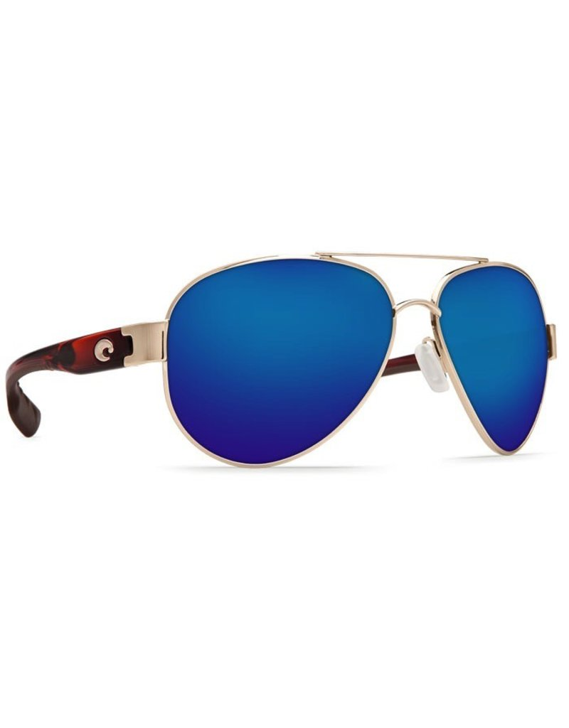 COSTA Costa Del Mar South Point Sunglasses Rose Gold With Light Tortoise Temples Blue Mirror Polarized Plastic