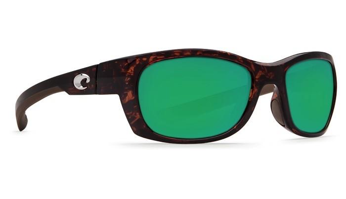 COSTA Costa Del Mar TREVALLY Sunglasses Green Mirror Polarized Plastic