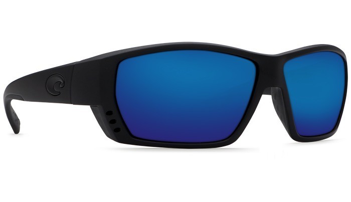 COSTA Costa Del Mar Tuna Alley Sunglasses Blackout Blue Mirror Polarized Glass