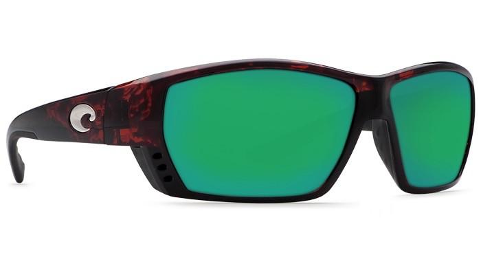 COSTA Costa Del Mar Tuna Alley Sunglasses Tortoise Green Mirror Polarized Glass