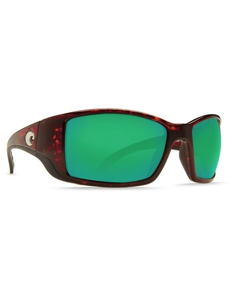 COSTA Costa Del Mar Blackfin Sunglasses Tortoise Green Mirror Polarized Glass