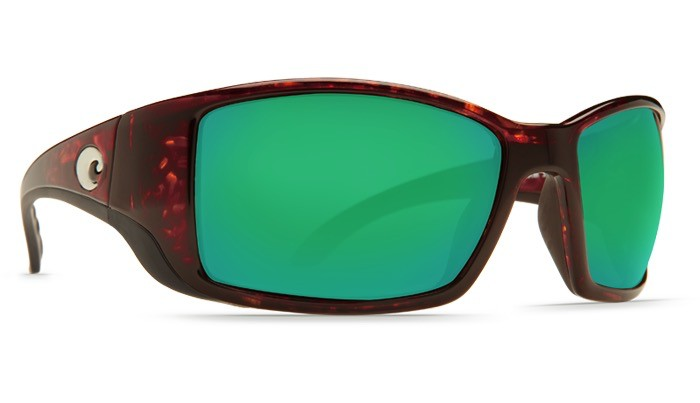 COSTA Costa Del Mar Blackfin Sunglasses Tortoise Green Mirror Polarized Glass