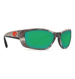 COSTA Costa Del Mar Fisch Sunglasses Realtree Xtra Camo Orange Logo Green Mirror