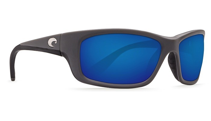 COSTA Costa Del Mar Jose Sunglasses Matte Gray Blue Mirror Polarized Glass