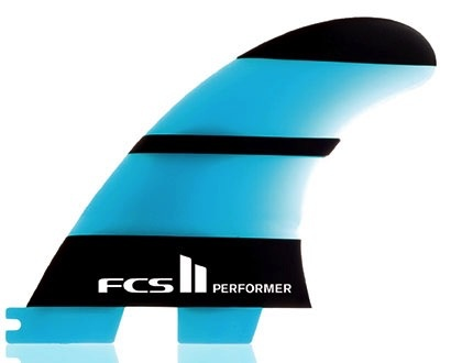 FCS FCS II Performer Neo Glass Tri Set X-Small Thruster Surfboard Fins