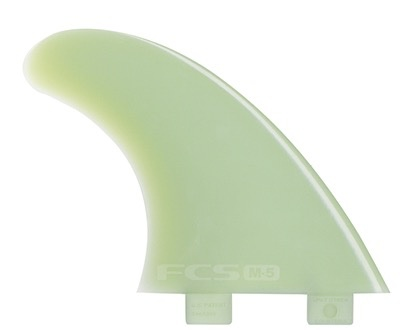 FCS FCS M-5 Tri Set Natural Glass Flex Tri Fin Set Unpackaged 3 Surfboard Thruster Fins