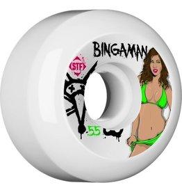 Skate One BONES WHEELS STF Pro Bingaman Pin Up 55mm 4pk