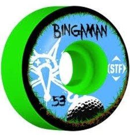 Skate One BONES WHEELS STF Pro Bingaman Bogey 53mm 4pk Green