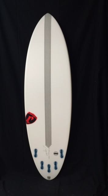 "Cronin Surfboards Cronin Surfboards 6'4"" Spear No Stringer Epoxy Carbon Clear 5 Fin FCS II"