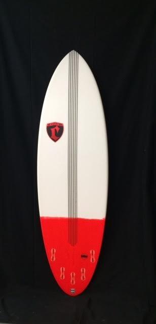 "Cronin Surfboards Cronin Surfboards 6'3"" Spear No Stringer Epoxy Carbon Resin Color 5 Fin FCS II"