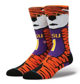 Stance Stance LSU Mike The Tiger NCAA Socks Mens 9-12 Large