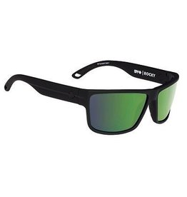 Spy Optic Spy Rocky Sunglasses Soft Matte Black Happy Bronze Polar w/ Green Spectra