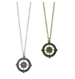 World End Imports Antiqued Compass Necklace Jewelry