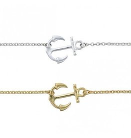 World End Imports Sideways Anchor Anklet
