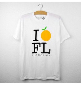 Flomotion I Orange FL - Crew Neck White