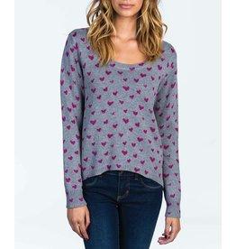 Billabong Billabong Heart U Sweater Athletic Grey Womens