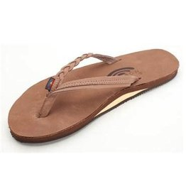 Rainbow Rainbow Sandals Flirty Braidy - Single Layer Premier Leather with Arch Support with a Braided Strap