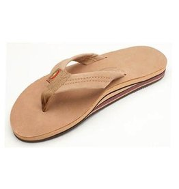 Rainbow Rainbow Sandals Double Layer Premier Leather with Arch Support Mens Sierra Brown
